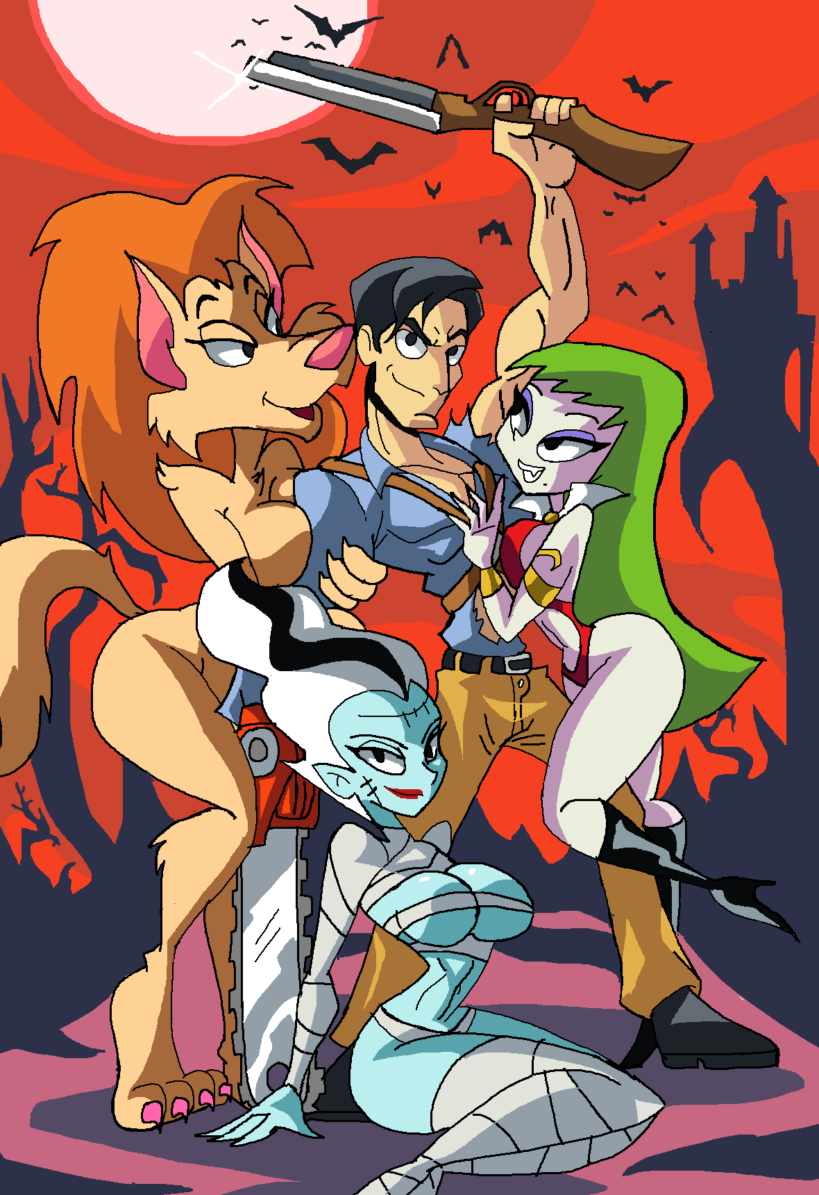 with hair anime white girl wolf Lilo & stitch the series angel