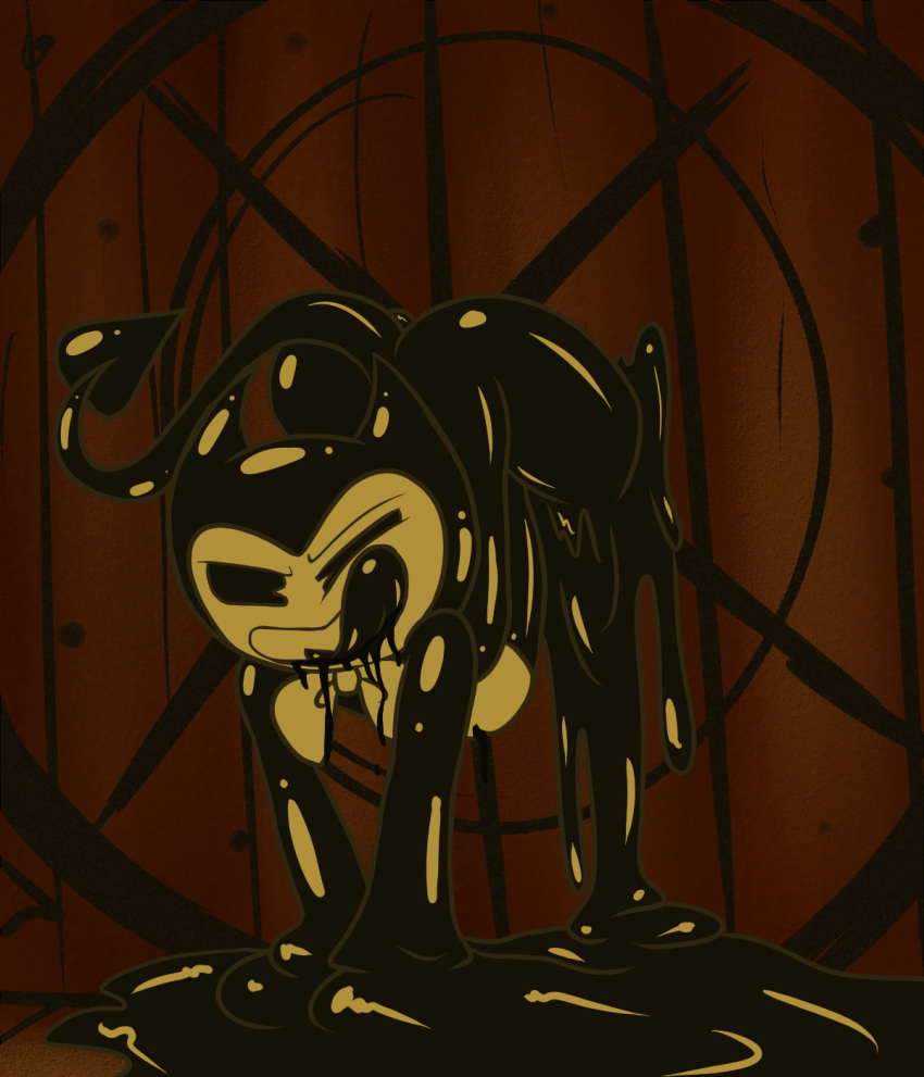 bendy the female ink machine and Little red riding hood meme