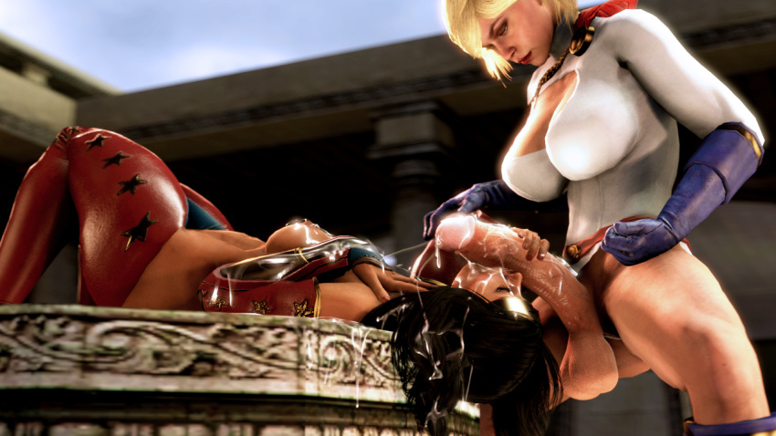 wonder power girl and woman Corruption of champions scene text