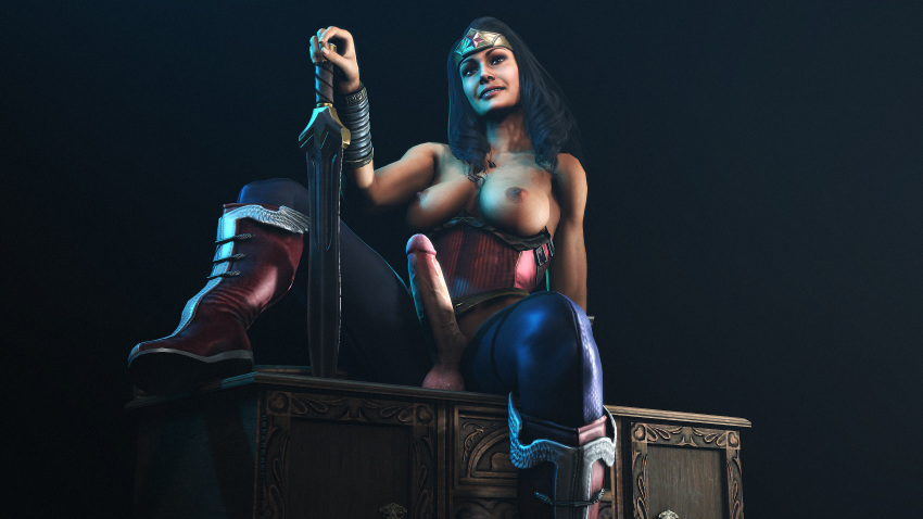 woman wonder naked tied up Berri conker's bad fur day